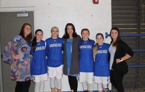Senior Night: Cheerleaders and Basketball Players