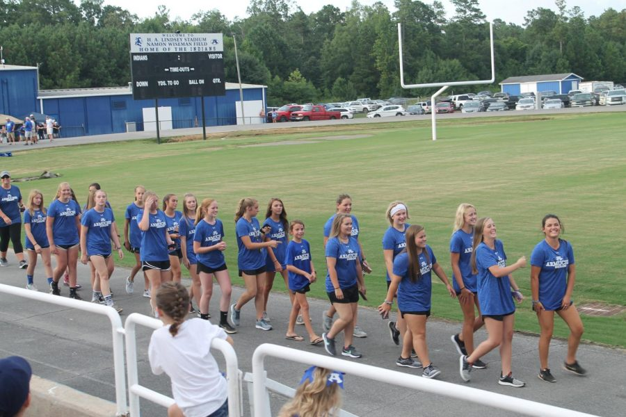 The+Armuchee+High+School+softball+team+were+introduced+at+Meet+the+Tribe+on+August+4th+as+a+kick+off+to+their+season.