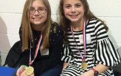 Kelsey Arp and Evey Flagello Compete in State-Level Tech Fair
