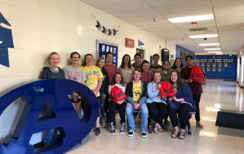 The Key Club members that attended and helped with the Brighter Birthdays service project. During the fall the club participated with the organization for the first time. Sponsor of Key Club, Mrs. Mowery said,