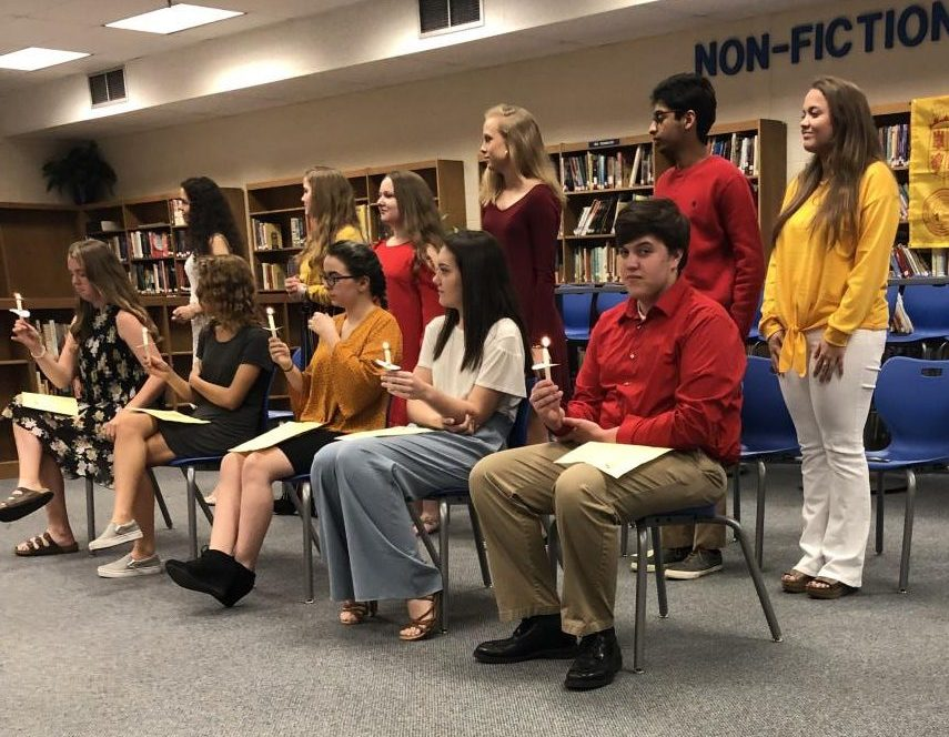 Students+being+inducted