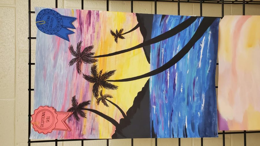 Armuchee High Art: The Sun and The Sea Paintings